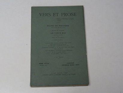 «Vers et prose» [revue tome XXXII], Œuvre...