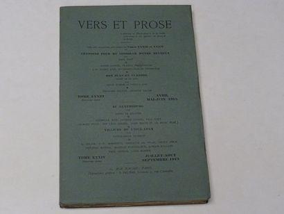 «Vers et prose» [revue tome XXXIII et XXXIV],...