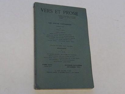 «Vers et prose» [revue tome XXXV], Œuvre...