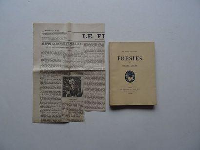 «Poésies», Pierre Louÿs; Ed. Les éditions...