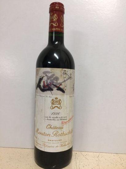 Château Mouton Rotschild Pauillac, 1989   Étiquette tâchée, TLB