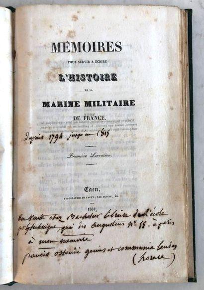 Mémoires pour servir à écrire l'histoire...