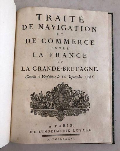 Traité de navigation et de commerce entre...