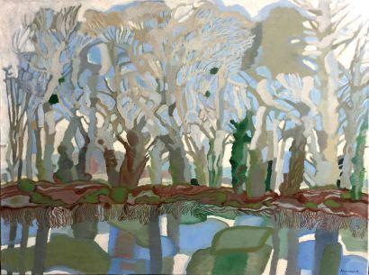 Henri SAMOUILOV (1930-2014) Mare dans la forêt Oil on canvas, signed lower right,...