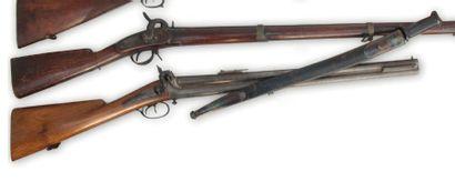 Très rare carabine à double canons signée...