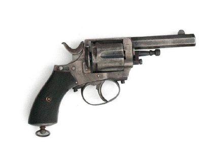 Revolver non signé à 6 coups. Carcasse en...