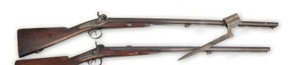 Fusil double (1837) Platine arrière de la...