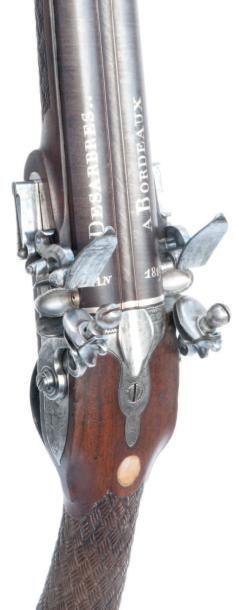 Fusil de chasse à deux canons. (Début XIXème...