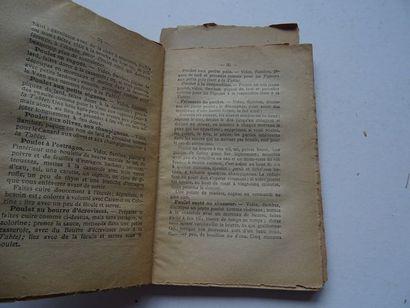 «La Cuisinière des petits ménages», auteur non mentionné,; Ed. A.L Guyot éditeur,...