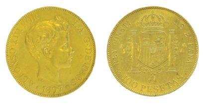 IDEM 100 pesetas 1897 (97). (TTB).