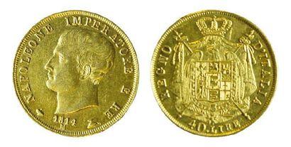 ITALIE Napoléon Roi (1805-1814). 40 lires, 1812 Milan. (Presque TTB).