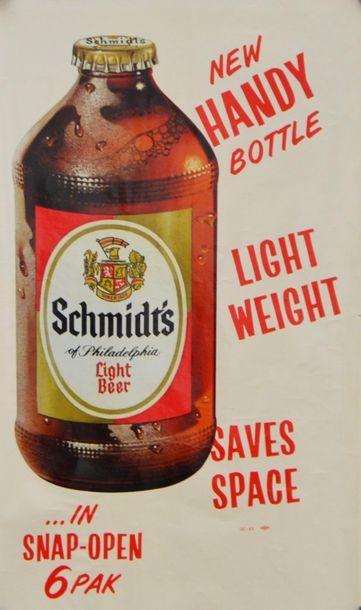 ANONYME. Schmidt's Light Beer. New Handy...