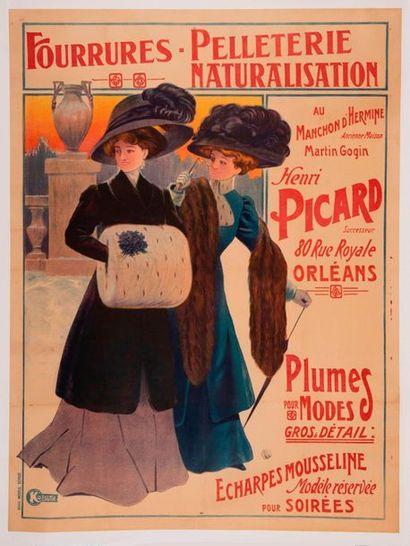 ANONYME. Fourrures - Pelleterie - Naturalisation. Au Manchon d'Hermine. Henri Picard....