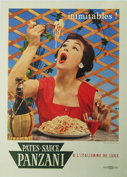 AARONS Léo (Photo). Pates - Sauce Panzani à l'italienne de luxe. Inimitables ! Affiche...