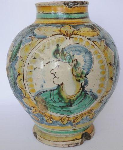 Vase boule, Italie du Sud, Palerme ou Caltagirone,...