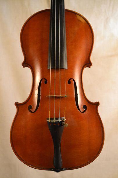 Pierre GAGGINI (1903-2005) 4/4 Violin bearing the label: Petrus Gaggini - Nicaea...
