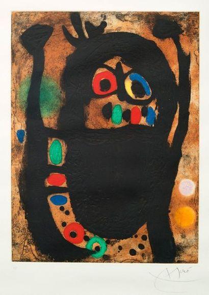 Joan MIRO (1893-1983) La femme aux bijoux Lithographs signed lower right 46 x 34...