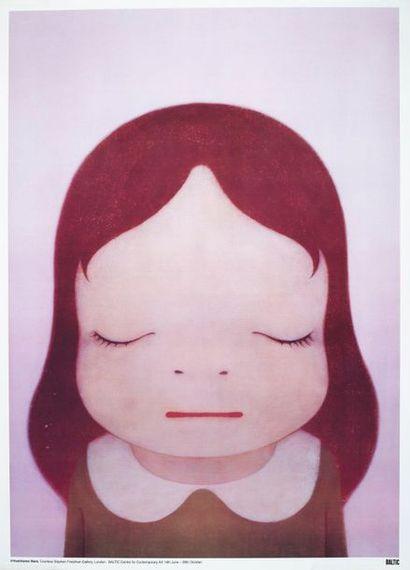 Yoshitomo NARA (1959) Cosmic girl Eyes opened, eyes Closed Offset lithography. Courtesy...