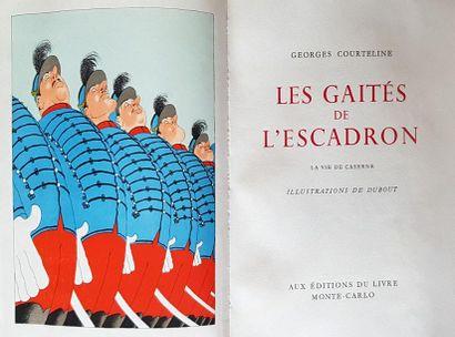COURTELINE Georges Les gaîtés de l'escadron. La vie de caserne. Ed. du livre Monte...