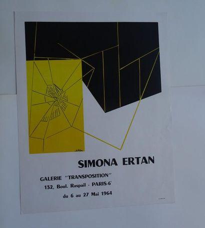 "«Simona Ertan», Galerie ""Transposition"", 1964; Imp. Leperohe, [57.5 *44.5 cm]..."