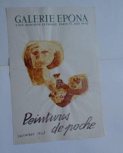 «Peintures de poche», Galerie Epona, 1963,...