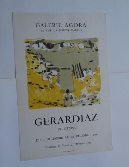 «Gerardiaz peintures», Galerie Agora, 1962;...