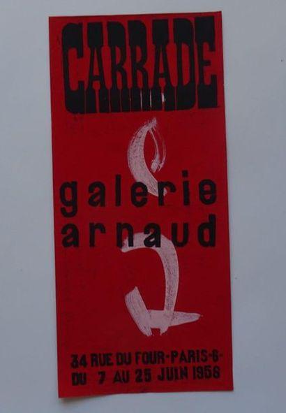 «Carrade», Galerie Arnaud, 1956, [50*23...