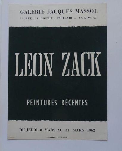«Léon Zack: peintures récentes», Galerie Jacques Massol, 1962; Imp. Sérigraphie...