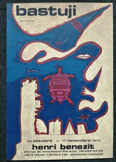 «Bastuji: peintures », Henri Benezit, 1972, [64*43.5 cm]