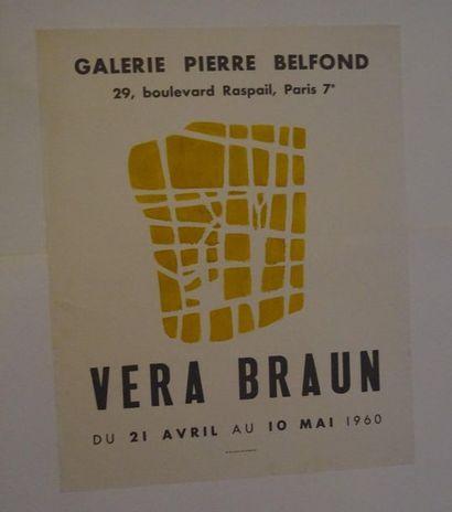 «Vera Braun», Galerie Pierre Belfond, 1960;...