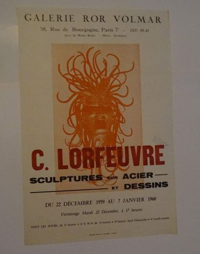 «G. Lorfeuvre: Sculptures sur acier et dessins», Galerie Ror Volmar, 1959; Imp....