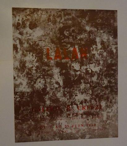 «Lalan», Galerie R. Creuze, 1960; Imp....