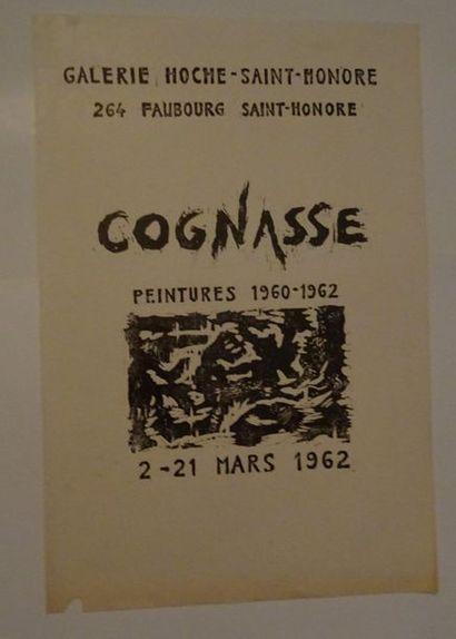 «Cognasse: peintures 1960-1962», Galerie...