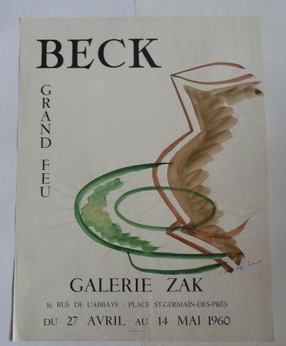 «Beck: Grand feu», Galerie Zack, 1960;...