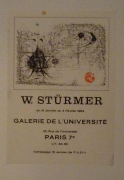 «W.Stürmer», Galerie de l'université, 1964;...