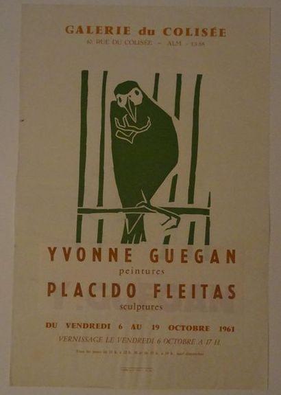 «Yvonne Guéguan, peintures / Placido Fleitas,...