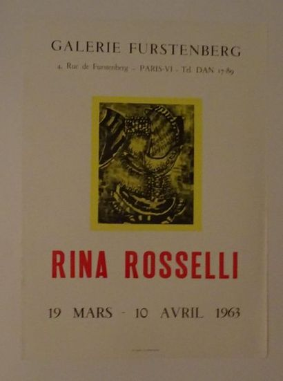 «Rina Rosselli», Galerie Furstenberg, 1963;...