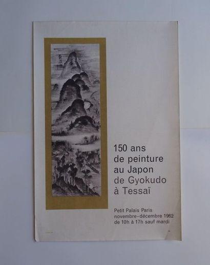 «150 ans de peinture au Japon de Gyokudo à Tessaï», Petit Palais, 1962; Imp....