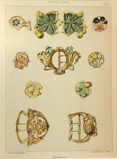 Lot de lithographies décoratives