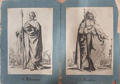 Lot de 10 gravures de Saints d'après Jacques...