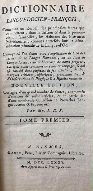 (BOISSIERES DE SAUVAGES DE LA CROIX). Dictionnaire...