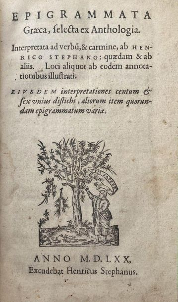 Epigrammata Graeca selecta ex Anthologia.......