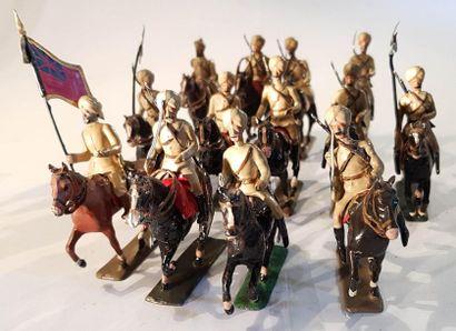 CBG-MIGNOT. IIIème République. Armée Britannique. Hindous. CE lot comprend 13 cavaliers...