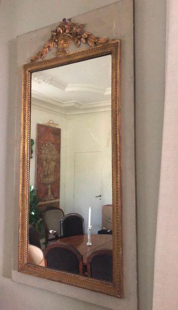 Trumeau de miroir  Style Louis XVI