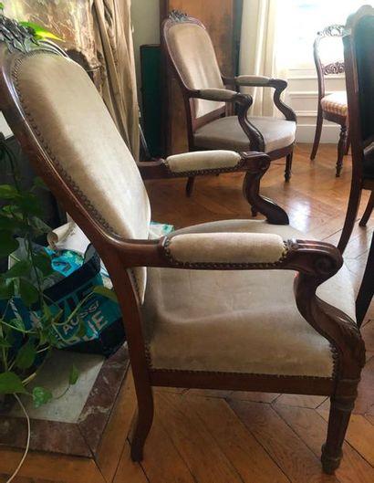 Paire de fauteuils  Fin XIXème