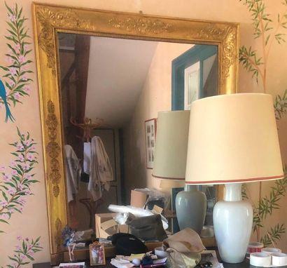 Grand miroir en bois dore?  XIXème