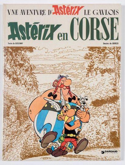 Uderzo - dédicace Astérix en Corse. Edition originale Dargaud avec intérieur collé...
