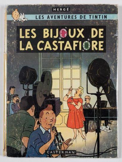 Hergé - dédicace Les bijoux de la Castafiore, édition originale belge agrémentée...