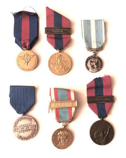 FRANCE Ensemble de six médailles comprenant...