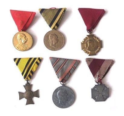 EMPIRE D'AUTRICHE Ensemble de six médailles...